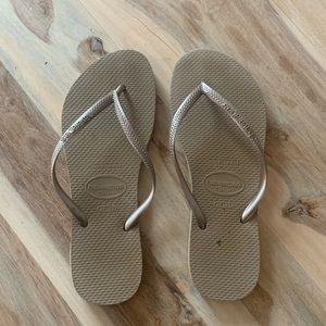 Havaianas Silver / Grey Flip Flops